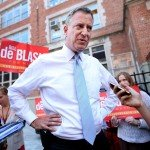 NYC Mayoral Candidate Bill De Blasio Holds Press Conference