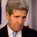 John Kerry with sad look on face
