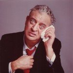 The late Rodney Dangerfield with confused look on face