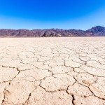 California desert is dry and cracked from drought