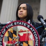 Baltimore attorney Marilyn Mosby at press conference