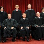 Group photo of the nine justices that make up the Supreme Court of the US