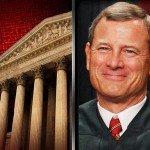 Image of Chief Justice John Roberts and the Supreme Court building