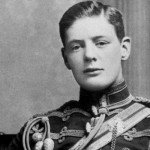 Old portrait of the late Winston Churchill