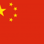 Yellow stars on red background makes up the Chinese flag