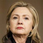 Hillary Clinton looking angry