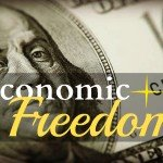 U.S. currency with text reading Economic Freedom