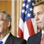 McConnell and Boehner with serious faces