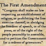 Image with text from the First Amendment