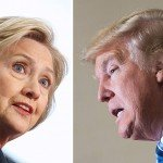 (FILES) This file photo combination shows Democratic presidential candidate Hillary Clinton(L) on April 4, 2016 and Republican challenger Donald Trump on February 16, 2016. November's US presidential election is taking shape: Republican billionaire Donald Trump and Democratic power player Hillary Clinton look set for an ugly battle for the White House after a bruising primary season. Trump knocked out his only serious challenger Ted Cruz on May 3, 2016 in Indiana's key primary, winning 53 percent of the vote against 37 percent for the Texas senator, who raised the white flag and surprisingly pulled out of the race.  / AFP PHOTO / dskDSK/AFP/Getty Images