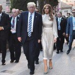 Mandatory Credit: Photo by Blondet Eliot-POOL/SIPA/REX/Shutterstock (8847013a) Donald Trump and Melania Trump G7 Summit, Taormina, Sicily, Italy - 26 May 2017